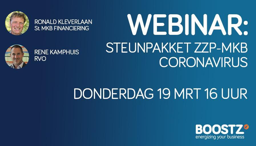 Corona-virus steunpakket ZZP en MKB webinar, meld je aan